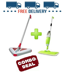 [Free Shipping + Spray Mop] Kessler Lightweight Wireless Rechargeble Triangular Sweeper Vacuum