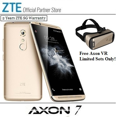 ZTEZTE Axon 7 4GB Ram/64GB Rom/Use Coupon+VR Headset+Gift Pack/2 Years  Local Singapore Warranty