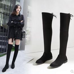 Womens Over Knee High Flat Ladies Long Faux Thigh High Boots