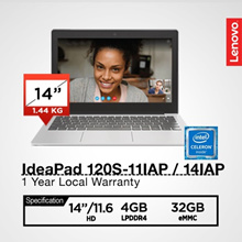 Lenovo|IdeaPad 120S|11.6HD/14.0 HD|Blue/Grey|1 Year Local Warranty