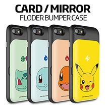 ★正規品★PokemonキャラクターFolder Card / Mirror Bumper ケース 手帳型★iPhone7/Plus/6/6S/5S/SE/Galaxy S7/Edge/Note5