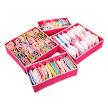 4PCS Storage Boxes for Ties Socks Shorts Bra Underwear Divider Drawer Lidded Closet Home Organizer R