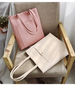 Minimalistic Tote Bag Simple Classic Shoulder Bag Handbag Ladies Bags Women Korean Fashion Bag Sale