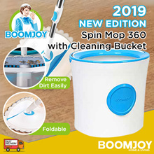 ✔✔FREE DELIVERY- BOOMJOY M16  premium Single Big Bucket Spin Mop 360 Floor Cleaning Bucket