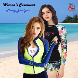 New Designs Women Swimwear/Rashguard Set UV protection