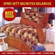 SPREI MICROTEX BELAROSE PREMIUM ~ Tanpa Bedcover only sprei + sarung bantal dan guling