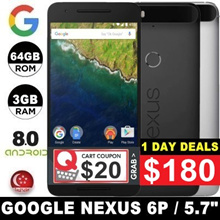 (MAKE $180) Google Nexus 6P / 3GB RAM / 64GB / 128GB ROM / Android 8.0 / 5.7 inch / Refurbished
