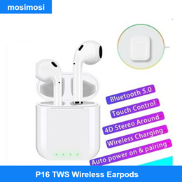 Q11-i100 / P16 TWS Pop-up Bluetooth 5.0 Earphones For iPhone With Wireless Charging  For Android/ iP
