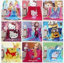 Soft Velvet Blanket~~Hello Kitty / Doraemon / Winnie the Pooh / Minion / Frozen ~Available in 3 size