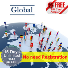 ◆ ICC◆【Global Sim Card· 15 Days】❤ 4G LTE/3G + Unlimited data + call ( NEED TOP-UP)❤ 60 countires