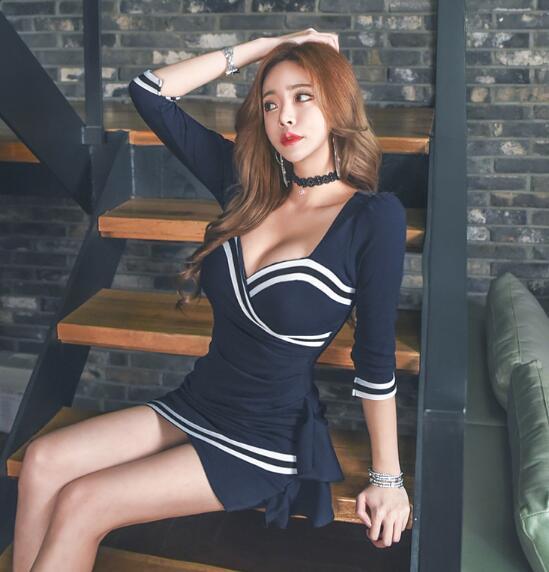 [55555SHOP]韓国ファッション 高品質 パーティードレス ボディコン 体型カバーになる ミニドレスセクシー 高級でセクシーなワンピース