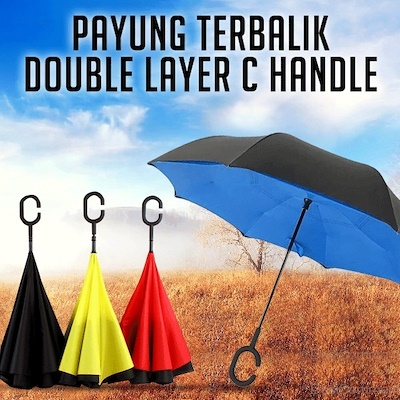 Payung Terbalik Reverse Kazbrella Gagang C Deals for only Rp80.000 instead of Rp98.765