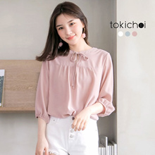 TOKICHOI - Ribbon Detailed Blouse-180349