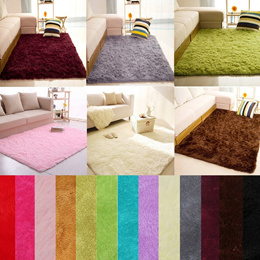 Fashion 16 Colors Home Bedroom Carpet Floor Mat Fluffy Rugs multi size  large mat small mat