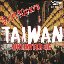 【5/7/10/15/30 Days Taiwan Prepaid SIM Card】4G Unlimited Data SIM Card