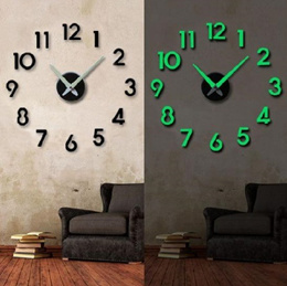 [DIY clock] Glow Living Room Home Modern Vintage Works Diy Wall Clock Hands Electric General Wall Decoration Deco Art Present Gift Made in Korea Home Decoration