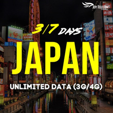 【3/7 Days Japan Unlimited Data Prepaid SIM Card】4GLTE/3G Speeds [Unlimited]