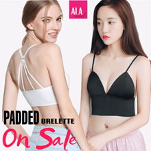 【Padded top/Cage bra】◆ALA TREND◆Padded bralette/Wireless bra/ Sleeping bra/Yoga bra/Comfortable bra