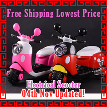Free shipping lowest price rechargable mickey scooter/bicycle/tricycle/motor/electric/kids/children