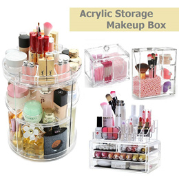 Makeup Organizer Table Cosmetics Holder Multi-purpose Storage Box Drawers Brush Acrylic Accessories