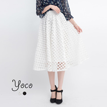 YOCO - A Line Skirt with Cut Outs-170979