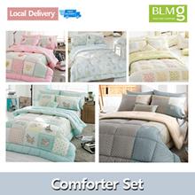FREE DELIVERY]Single/Queen Cotton Comforter Set/Bedsheet/Made in Korea/Includes Blanket Pillow C