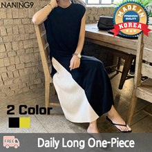 ★ Korean Fashion Business NO.1 Naning9 ★ Free Shipping ♥ 2019 S / S New Products! Dress / Haritone Wrinkle Color Dress Dress