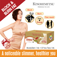 Kinohimitsu BodySlen 14s + Dtox Ginger Tea 14s [Effective Weight Management][Weight Lost in 14 Days][Potato Extract]