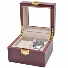 [ Starzdeals ] 2 Slot Rose Wood Watch Storage Box