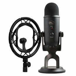 쿠폰가 $135 블루 예티 블랙아웃 마이크마이크로폰 마운트 포함/ Blue Yeti Blackout Microphone /Radius III Mount /방송용 마이크