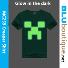 Minecraft T-shirt MC259 Creeper glow-in-the dark T-shirt