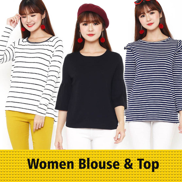 Best Seller Women Blouse Tees Deals for only Rp29.900 instead of Rp29.900