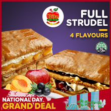 Full Strudel Choose from 4 Flavours: Classic Apple Peach Blueberry or Chocolate