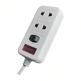PowerPac 2-PIN Extension Socket With Safety Shutter (PP259N)