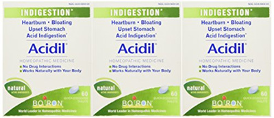 Boiron Boiron Acidil, 60 Tablets (Pack of 3), Homeopathic Medicine for  Indigestion