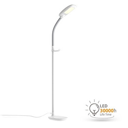 Aglaia LED Reading Floor Lamp, Dimmable Standing Lamp with Gooseneck for Living Room, Eye-Cared Touc