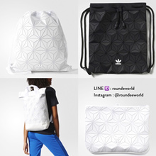 **POPULAR!** Adidas 3D Gymsack | 3D Roll Top Backpack | 3D Clutch ★ 100 Authentic - From Japan ★