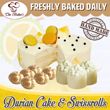 [The Bakers] Freshly Baked Durian Cakes w Macarons | Durian Swiss Rolls | Mini Durian Puffs!