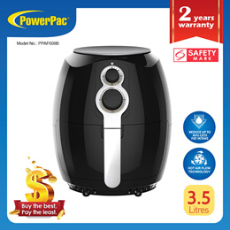 PowerPac Air Fryer 3.5L with Hot Air Flow System (PPAF608B)