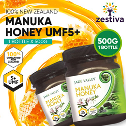★ 2 for $55 ★500G UMF 5+  JADE VALLEY MANUKA HONEY★ FREE GIFT BOX FOR THREE BOTTLES ★FREE DELIVERY ★