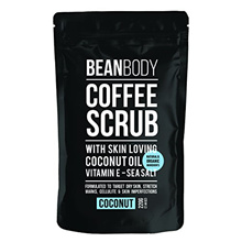 Mr. Bean Organic All Natural Coffee Bean Exfoliating Body Skin Scrub with Coconut Oil, Vitamin E, an