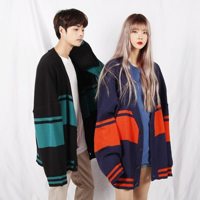 Korea Shipping / [Geroshop] O Buffett Square Cardigan / Trendy Items, Sense Cody, Unisex Fashion