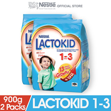 LACTOKID 1-3 without Probiotics Softpack 900g  2 Packs