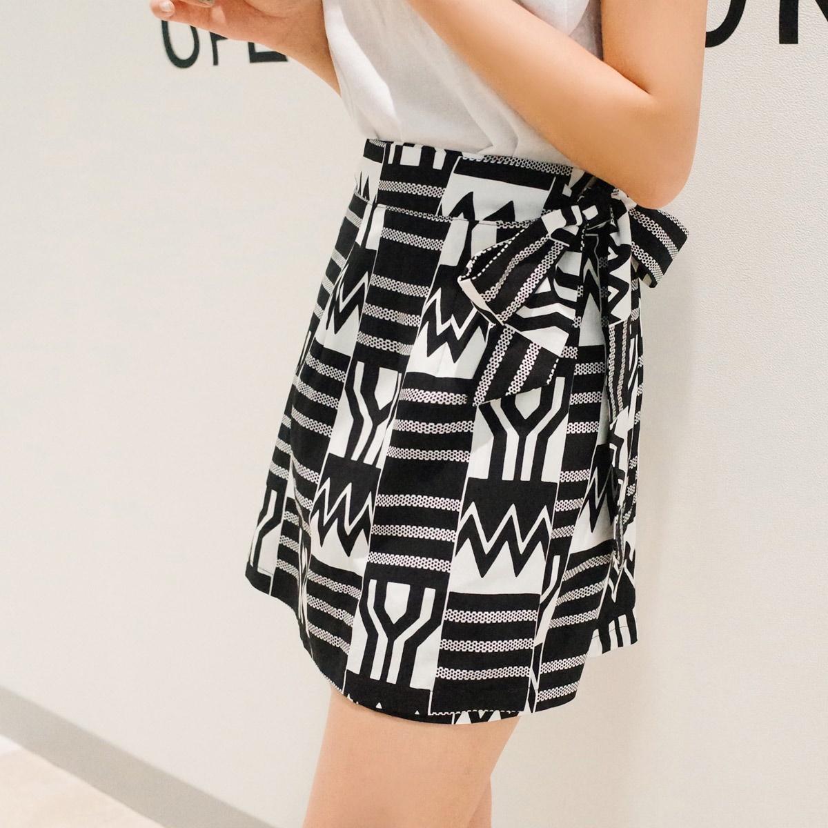 [CHERRYKOKO官方旗艦店] 夏季亞麻短裙 / cecilie skirt