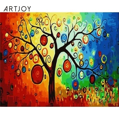 Art Joy DIY Painting by famous paintings Lucky Tree