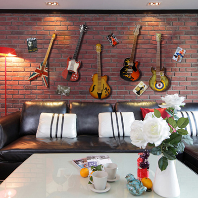 Qoo10 Iron guitar wall decoration ideas wall hanging home