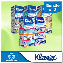 [BUNDLE of 6] KLEENEX Facial Tissues-NEW Limited Edition Princess/Floral/Natural/Classic/Garden