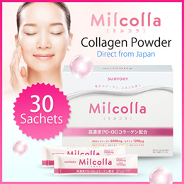 SUNTORY Milcolla Collagen Powder 30 Sachets 女人我最大 三得利 蜜露珂娜★Direct from Japan★
