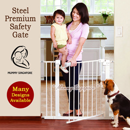 Fit 65cm-200+cm. Steel premium safety gate for baby Pet/Auto close metal gate