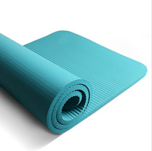 【Purchase with Coupon】Yoga Mat Fitness Gym Exercise Plain Colour Thin Anti Slip - NBR Rubber 10mm -